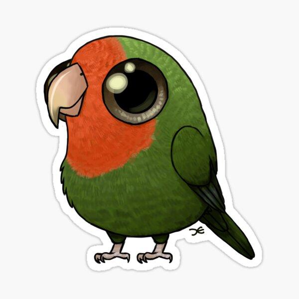 Cute Fat Peachy Lovebird Sticker