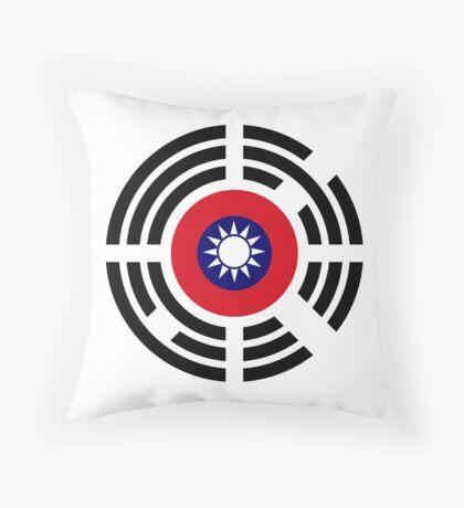 Korean Taiwanese Multinational Patriot Flag Series Throw Pillow