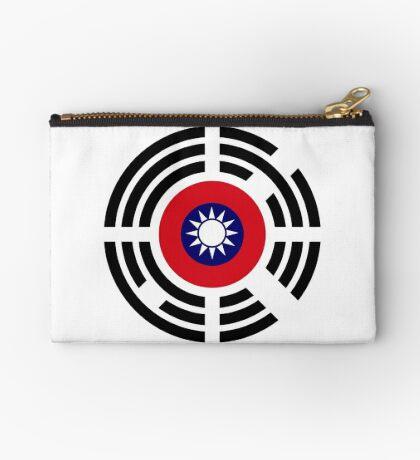 Korean Taiwanese Multinational Patriot Flag Series Zipper Pouch