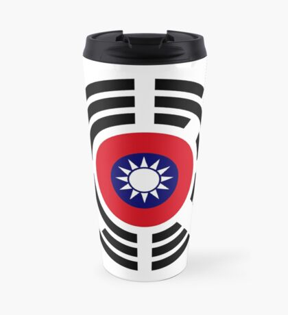 Korean Taiwanese Multinational Patriot Flag Series Travel Mug