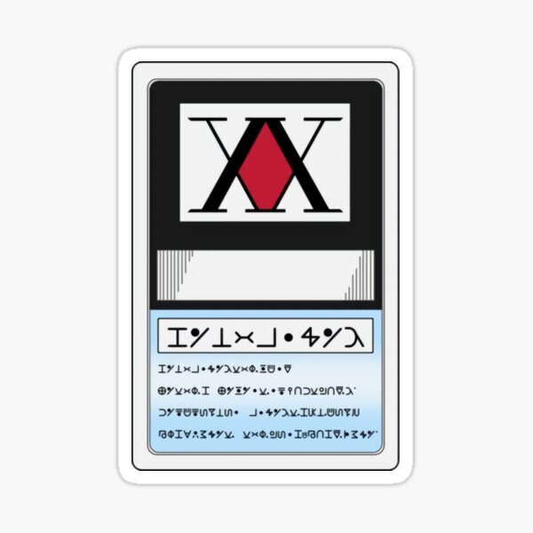 Hunter x hunter Card Sticker