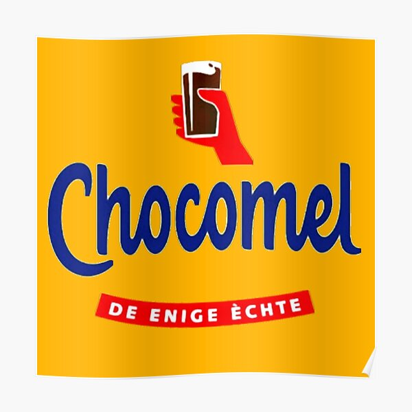 Chocomel chocolademelk Nederland Poster