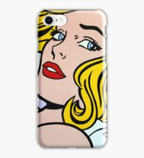Seductive Girl - Roy Lichtenstein Pop Art (Purple) iPhone Case/Skin