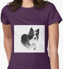 Working Winter Collie Womens Fitted T-Shirt
