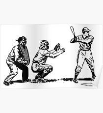 Baseball-Spieler Schläger Poster