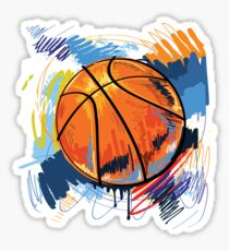 Basketball graffiti art Sticker