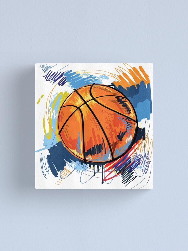 Alternate view of Basketball graffiti art Canvas Print
