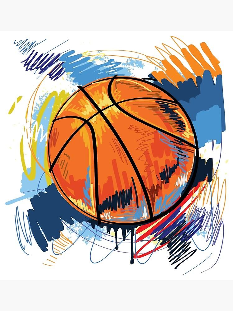 Basketball graffiti art by lovingangela