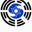 Korean Israeli Multinational Patriot Flag Series by Carbon-Fibre Media