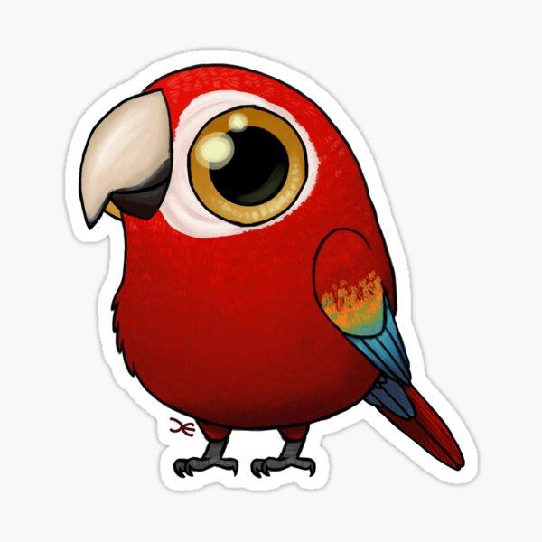 Cute Fat Macaw Sticker