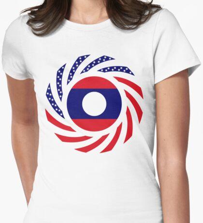 Lao American Multinational Patriot Flag Series T-Shirt