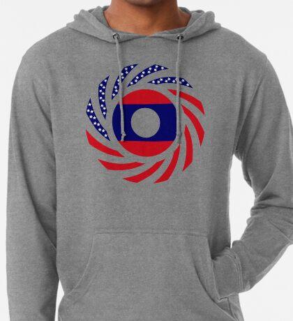 Lao American Multinational Patriot Flag Series Lightweight Hoodie