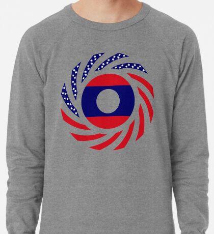 Lao American Multinational Patriot Flag Series Lightweight Sweatshirt