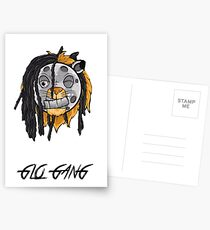 Glo Gang - Chief Keef zombie lion Postcards