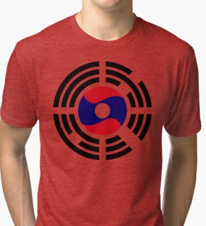 Korean Laotian Multinational Patriot Flag Series Tri-blend T-Shirt