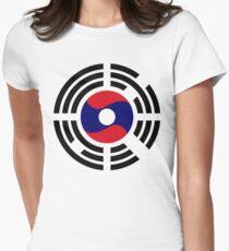 Korean Laotian Multinational Patriot Flag Series T-Shirt