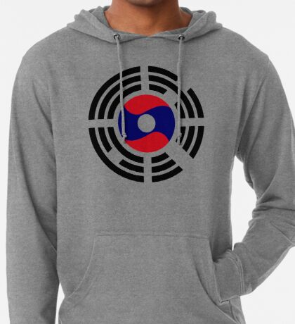 Korean Laotian Multinational Patriot Flag Series Lightweight Hoodie