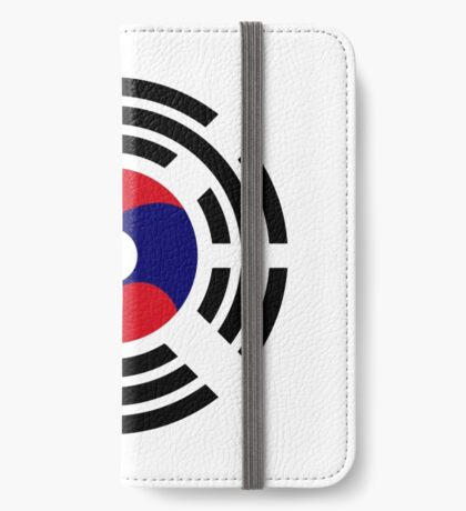Korean Laotian Multinational Patriot Flag Series iPhone Wallet