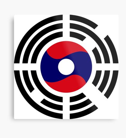 Korean Laotian Multinational Patriot Flag Series Metal Print