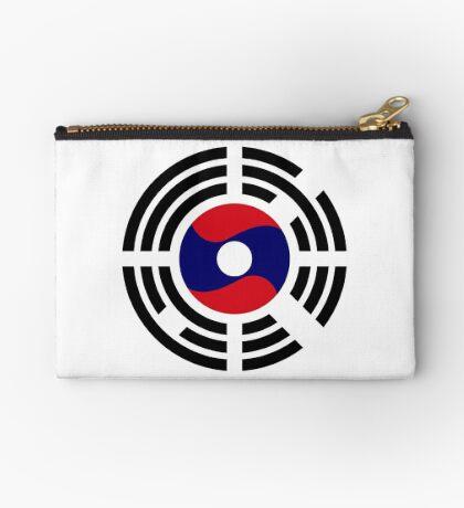 Korean Laotian Multinational Patriot Flag Series Zipper Pouch