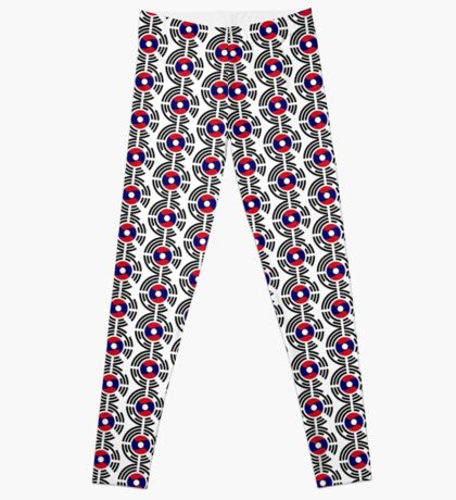 Korean Laotian Multinational Patriot Flag Series Leggings