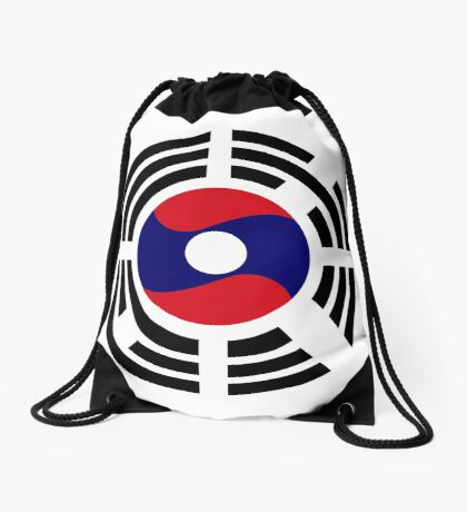 Korean Laotian Multinational Patriot Flag Series Drawstring Bag