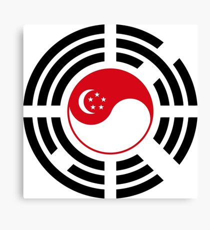 Korean Singapore Multinational Patriot Flag Series Canvas Print