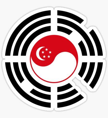 Korean Singapore Multinational Patriot Flag Series Sticker