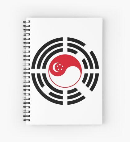 Korean Singapore Multinational Patriot Flag Series Spiral Notebook