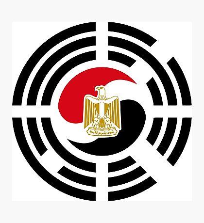 Korean Egyptian Multinational Patriot Flag Series Photographic Print