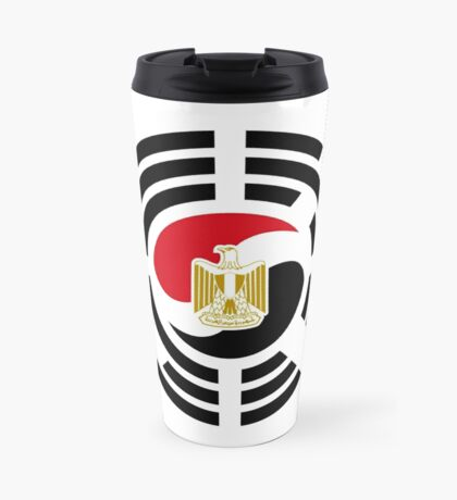 Korean Egyptian Multinational Patriot Flag Series Travel Mug