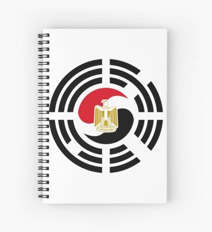 Korean Egyptian Multinational Patriot Flag Series Spiral Notebook