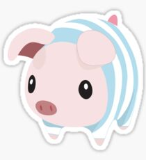 Poogie Piggie Monster Hunter Print Pj Pajama Sticker