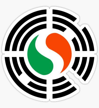 Korean Irish Multinational Patriot Flag Series Sticker