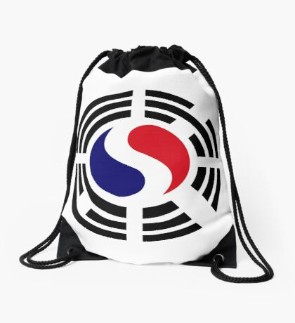Korean French Multinational Patriot Flag Series Drawstring Bag
