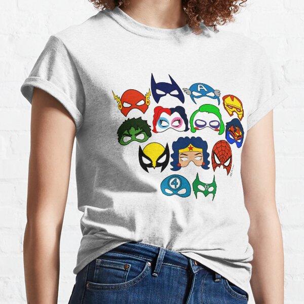 Superhero Masks Classic T-Shirt