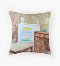 Watercolour Room (Islington Flat) Throw Pillow