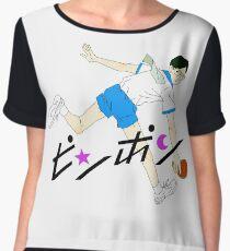 Ping Pong Smile Print Women's Chiffon Top