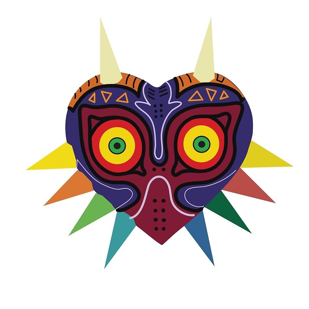 Majoras Mask Vector Print Zelda by niymi