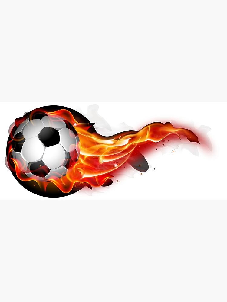 Soccer ball on fire by lovingangela