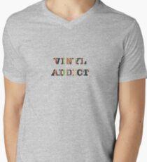 Vinyl Addict Mens V-Neck T-Shirt