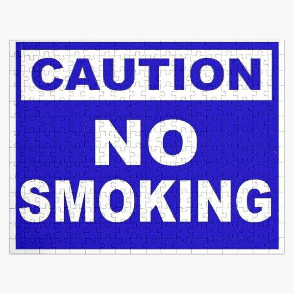 Caution No Smoking Jigsaw Puzzle