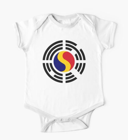 Korean Romanian Multinational Patriot Flag Series Kids Clothes
