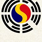 Korean Romanian Multinational Patriot Flag Series by Carbon-Fibre Media
