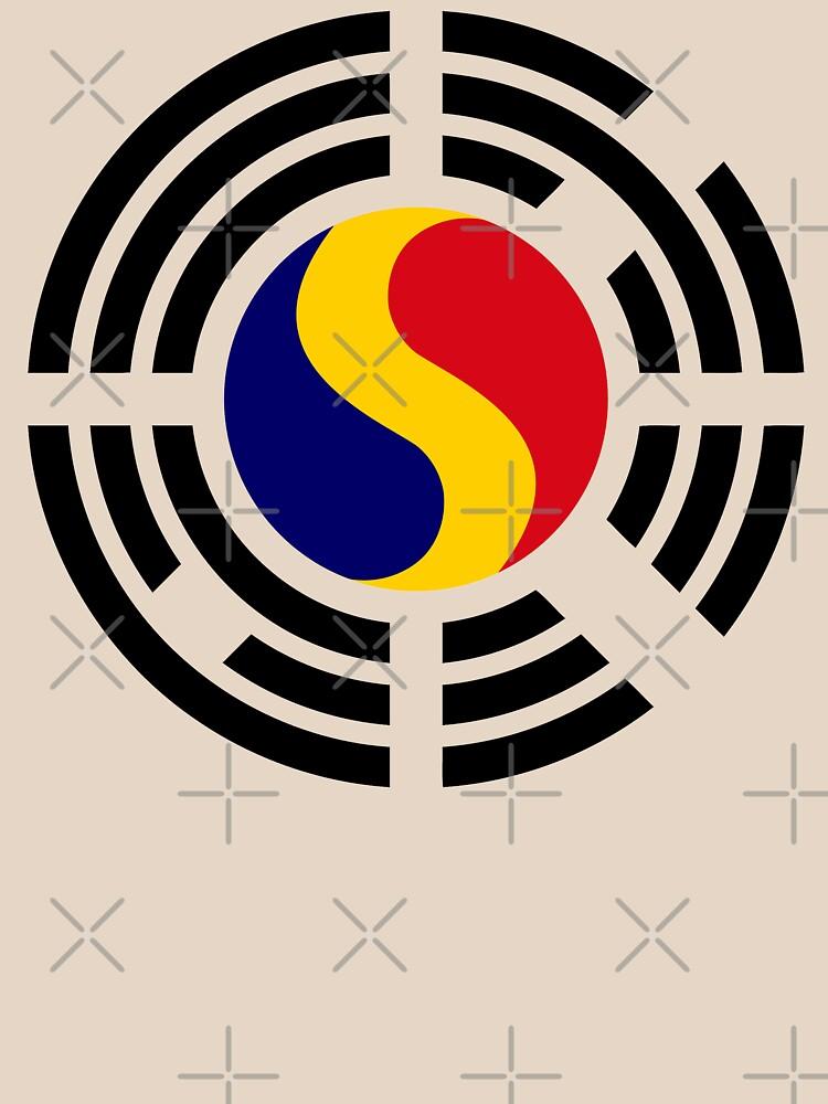 Korean Romanian Multinational Patriot Flag Series by carbonfibreme