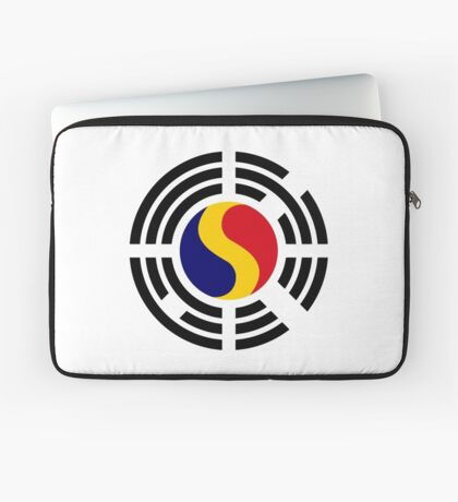 Korean Romanian Multinational Patriot Flag Series Laptop Sleeve