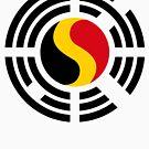 Korean Belgian Multinational Patriot Flag Series by Carbon-Fibre Media