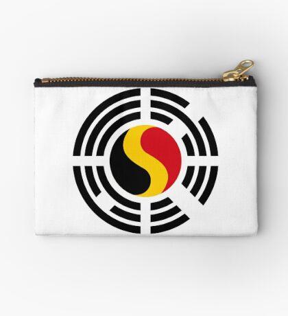 Korean Belgian Multinational Patriot Flag Series Zipper Pouch