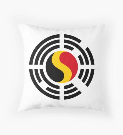 Korean Belgian Multinational Patriot Flag Series Throw Pillow