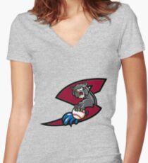 Sacramento river cats Women's Fitted V-Neck T-Shirt